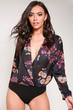 Load image into Gallery viewer, Silk Floral Bodysuit
