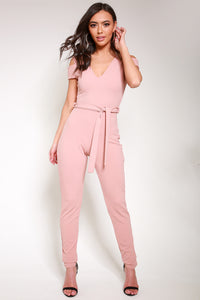 V-Neck Slash Jumpsuit