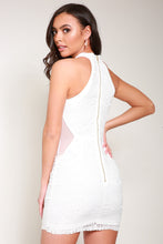 Load image into Gallery viewer, White bodycon dress