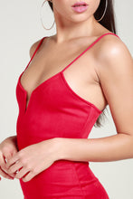 Load image into Gallery viewer, Red suede dress
