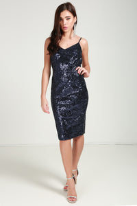 Sequin Cami Midi Dress