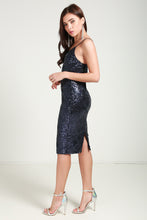 Load image into Gallery viewer, Sequin Cami Midi Dress