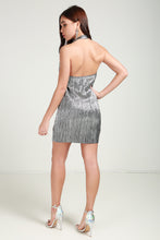 Load image into Gallery viewer, Sliver Metallic Dress