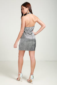Sliver Metallic Dress