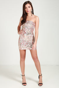 sequence bandeau dress