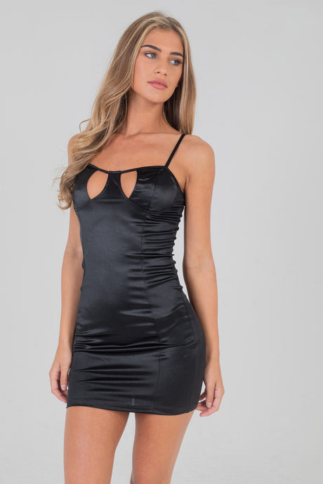 Cut Out Bust Cupped Dress