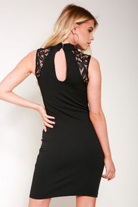 Black Chocker bodycon dress