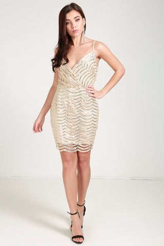 Sequin Lace Bodycon Cami Dress