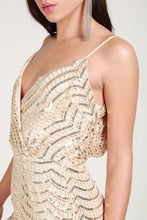 Load image into Gallery viewer, Sequin Lace Bodycon Cami Dress