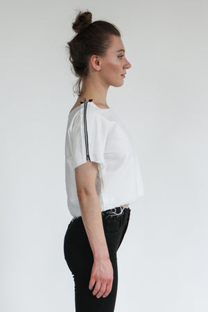 White Zipper Shirt