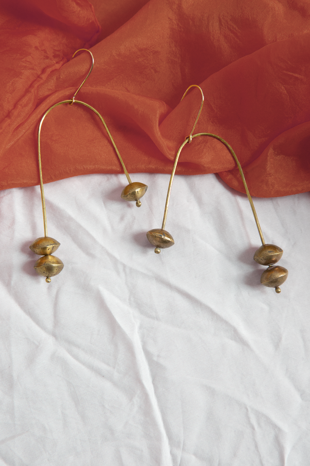 Librae Earrings - Brass
