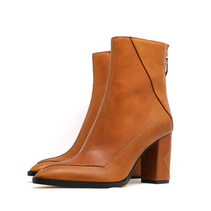 ALMASI cognac calf leather