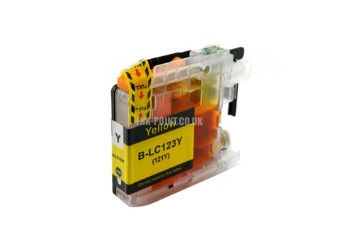 Compatible Brother LC123 Yellow Ink Cartridge