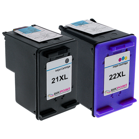 Compatible HP 21XL Black & HP 22XL Tri-Colour Ink Cartridge Pack