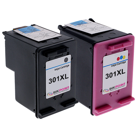 Compatible HP 301XL Black & HP 301XL Tri-Colour Ink Cartridge Pack