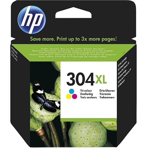 HP 304XL Tri-Colour Ink Cartridge