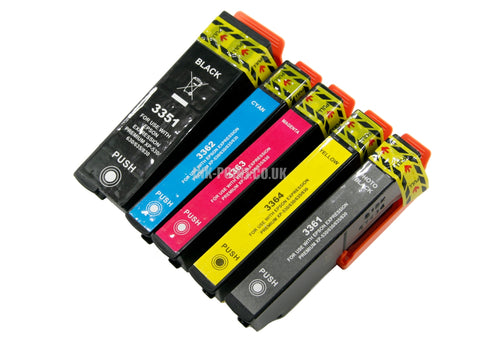 Compatible Epson T33XL Multipack of 5 Ink Cartridges