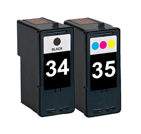 Compatible Lexmark 34 Black and 35 Tri-colour Ink Cartridges
