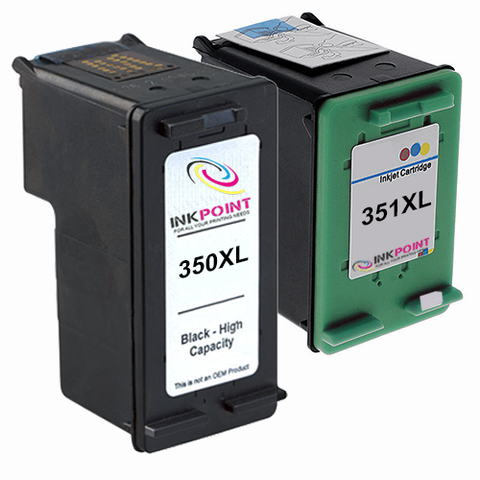 Compatible HP 350XL Black & HP 351XL Tri-Colour Ink Cartridge Pack
