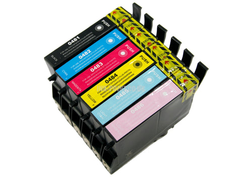 Compatible Epson T0487 Multipack of 6 Ink Cartridges