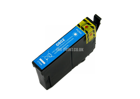Compatible Epson T0802 Cyan Ink Cartridge