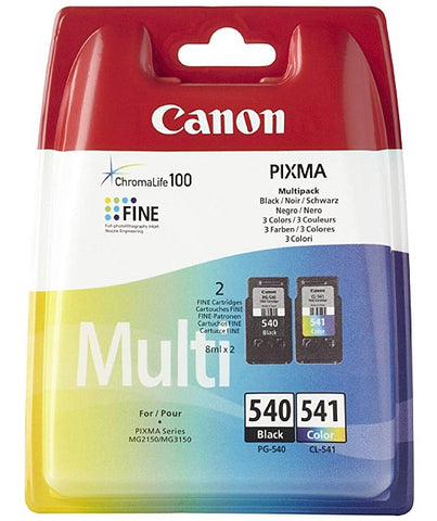 Canon PG-540 and CL-541 Multipack Of Ink Cartridges