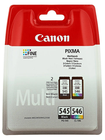 Canon PG-545 and CL-546 Twinpack Of Ink Cartridges