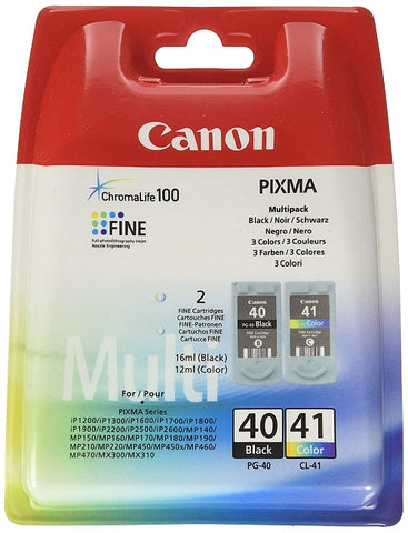 Canon PG-40 and CL-41 Twinpack Of Ink Cartridges