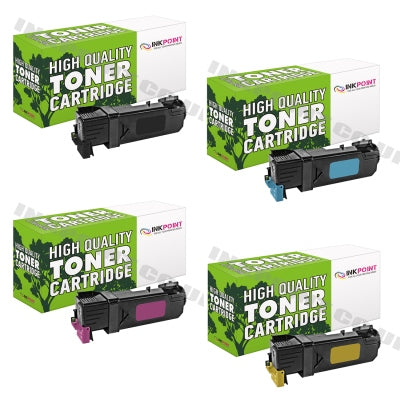 Compatible Dell 1320 B/C/M/Y Toner Cartridges 4 Pack