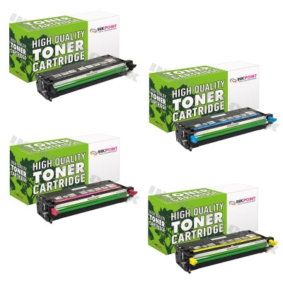 Compatible Dell 3110 B/C/M/Y Toner Cartridges 4 Pack