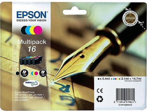 Epson 16 Ink Cartridges Multipack (T1626)