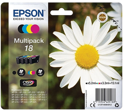 Epson 18 Ink Cartridge Multipack (T1806 Daisy)