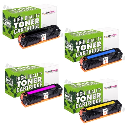 Compatible HP 312A (CF380X, CF381A, CF382A, CF383A) Multipack Of Toner Cartridges