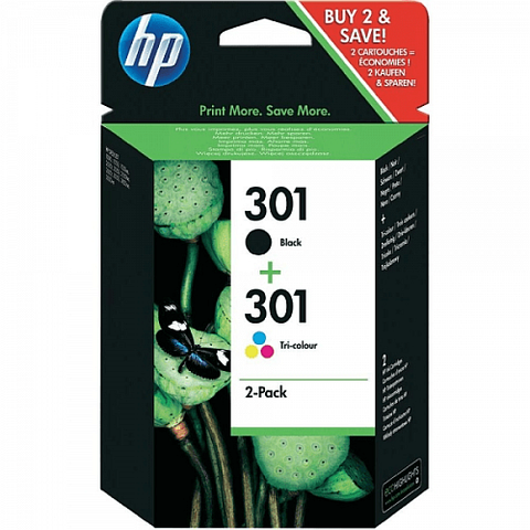 HP 301 Black & Tri-Colour Ink Cartridge Twinpack