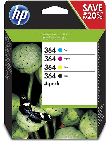 HP 364 High Capacity Multipack of 4 Ink Cartridges