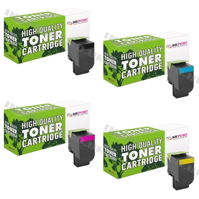 Compatible Lexmark C540 Multipack Of 4 Toner Cartridges