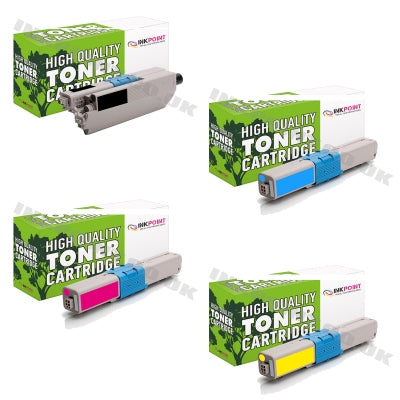 Compatible OKI C510 C530 Multipack Of 4 Toner Cartridges