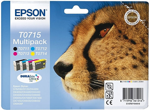 Epson T0715 Ink Cartridges Multipack (T0715 Cheetah)