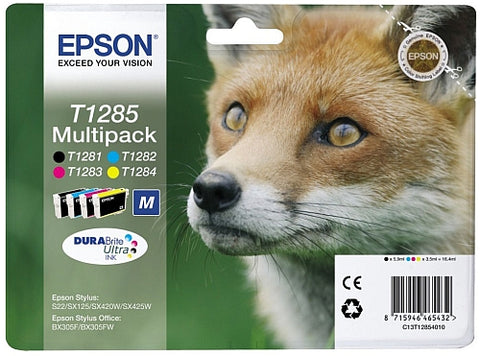 Epson T1285 Ink Cartridge Multipack (T1285 Fox )