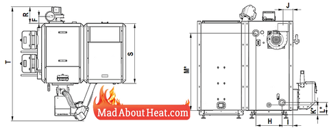 DETi Defro Wood Pellet boiler specification diagram
