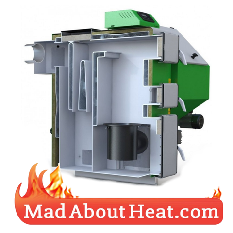 CTBi Boiler with auger hopper wood pellets coal slack burners madaboutheat.com