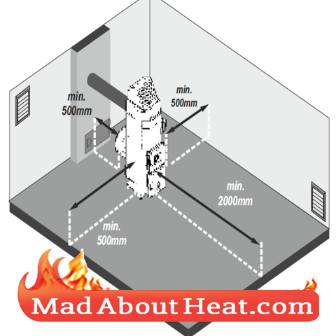 Space heater burns mdf chip board off cuts waste wood madaboutheat