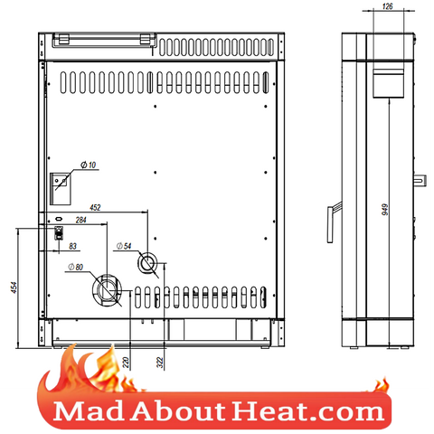 wood pellet stove gravity fed hot air room heater madaboutheat
