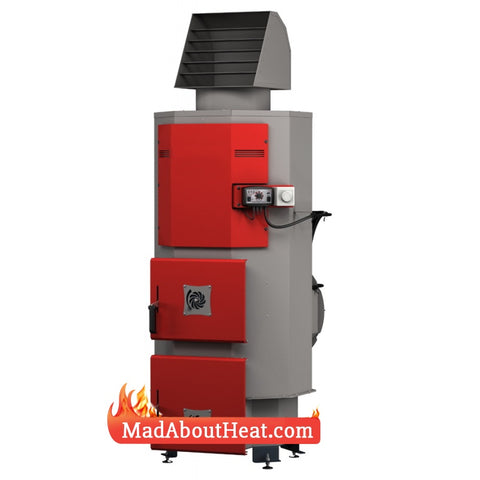 DABi Multi Fuel Space Heater Hot Air Blower Wood Burner