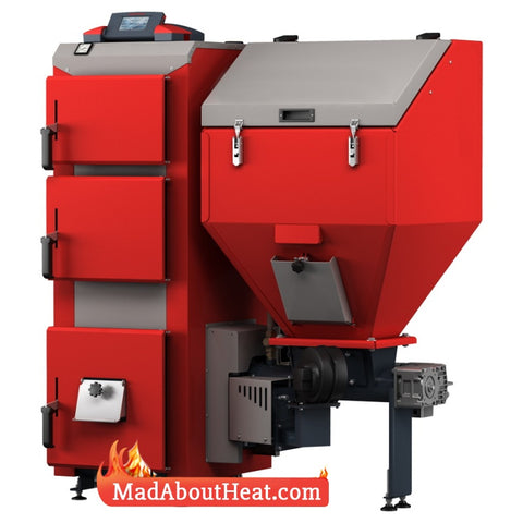 DPBi 35kW Wood Pellets Multi Fuel Biomass Pea Coal Pellet Boiler