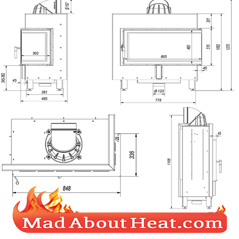 right hand side glass door stove insert fire place madaboutheat.com