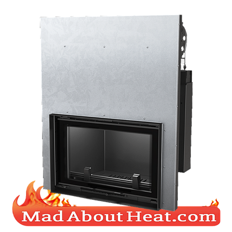 KGWJ 15kW guilotine stove back boiler fire place insert water heater multi fuel central heating madaboutheat