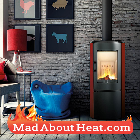 Stoves free standing different colours Eco design efficient hot air madaboutheat