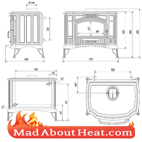 Back boiler Stoves freestanding multi fuel hunter stoves are us madaboutheat.com