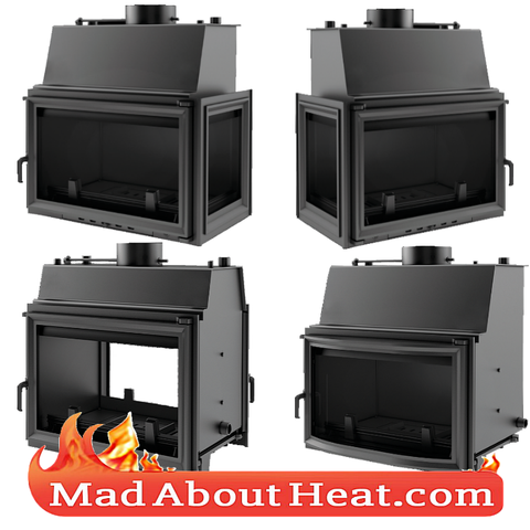 KOLT 27kW Back Boiler stove water heater fireplace insert central heating log fire madaboutheat